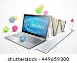 the concept of e learning.... | Shutterstock .eps vector #449659300