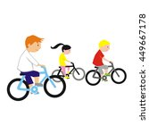 cyclists | Shutterstock . vector #449667178