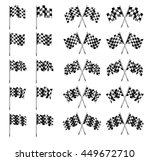 checkered flag  chequered flags ... | Shutterstock . vector #449672710