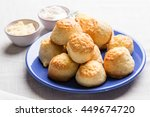 Homemade Scone With Cheese On...