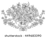 hand drawn ink pattern.... | Shutterstock .eps vector #449683390