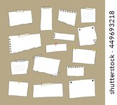 set of white papers   vector... | Shutterstock .eps vector #449693218