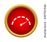 speedometer icon in simple... | Shutterstock .eps vector #449701966