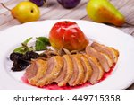 Duck Breast With Apple  Smoked...