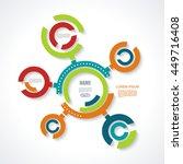 minimal timeline infographic... | Shutterstock .eps vector #449716408