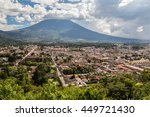 view over antigua  guatemala.   | Shutterstock . vector #449721430