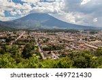 view over antigua  guatemala.   | Shutterstock . vector #449721430