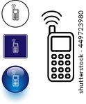 cell phone symbol sign and... | Shutterstock .eps vector #449723980