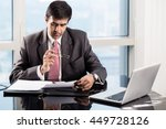 indian senior executive in his... | Shutterstock . vector #449728126