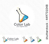 abstract color lab logo ....   Shutterstock .eps vector #449731048