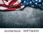 american flag freely lying on... | Shutterstock . vector #449736454