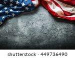 american flag freely lying on...   Shutterstock . vector #449736490