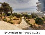 valletta city harbor area at... | Shutterstock . vector #449746153
