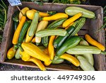 Wooden Box Of Organic Squash A...