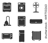 home appliance icons | Shutterstock .eps vector #449753263