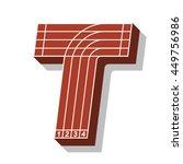 sport font  letter t  running... | Shutterstock .eps vector #449756986