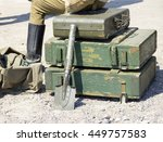 Vintage Military Suitcase  Arm...