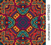 festive colorful tribal ethnic... | Shutterstock . vector #449758423
