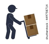 man working transport box... | Shutterstock .eps vector #449758714