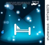 bed sign. symbol or hotel stay.   Shutterstock .eps vector #449760073