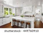 white kitchen interior with... | Shutterstock . vector #449760910