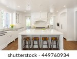 white kitchen interior with... | Shutterstock . vector #449760934