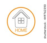 house icon. home sign | Shutterstock .eps vector #449762350