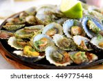 seafood   grilled limpets... | Shutterstock . vector #449775448