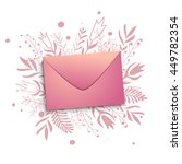 a pink envelope on a background ... | Shutterstock .eps vector #449782354