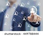 social network structure... | Shutterstock . vector #449788444