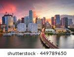 miami  florida  usa downtown... | Shutterstock . vector #449789650