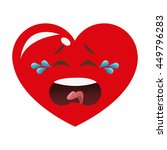 flat design crying heart... | Shutterstock .eps vector #449796283