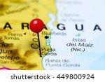 punta gorda pinned on a map of...   Shutterstock . vector #449800924