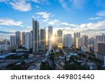 bangkok cityscape   aerial view ...   Shutterstock . vector #449801440