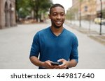 young african american man in... | Shutterstock . vector #449817640