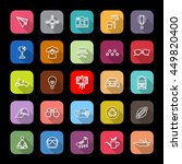 hipster line icons with long... | Shutterstock .eps vector #449820400