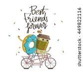 best friends forever. the trend ... | Shutterstock .eps vector #449822116