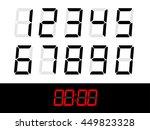 scoreboard numbers set  numbers