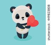 Cute Panda Holding A Heart...