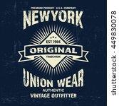typography vintage denim brand... | Shutterstock .eps vector #449830078