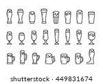 icon set beer with foam in beer ... | Shutterstock .eps vector #449831674