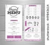 vintage dessert menu design.... | Shutterstock .eps vector #449843614