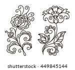 vector  contour  black and...   Shutterstock .eps vector #449845144