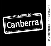 welcome to canberra city... | Shutterstock .eps vector #449846344