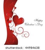 heart valentines day background | Shutterstock .eps vector #44984638