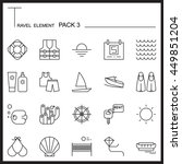 travel element line icon set 3...