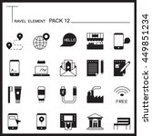 travel element graph icon set...