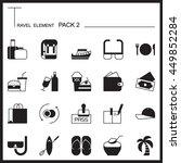 travel element graph icon set 2....
