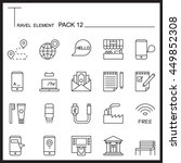 travel element line icon set 12....