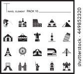 travel element graph icon set...
